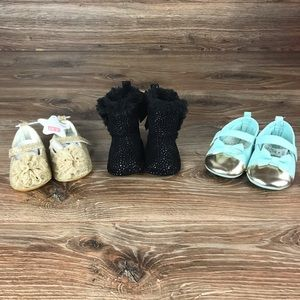 Other - Super Cute Collection Baby Girl Shoes 3pairs 6-9Mo
